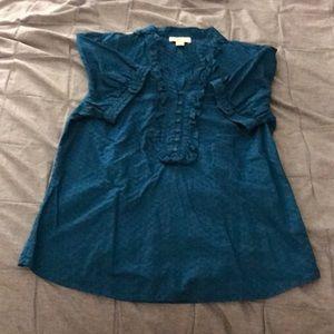 LOFT Turquoise Blouse